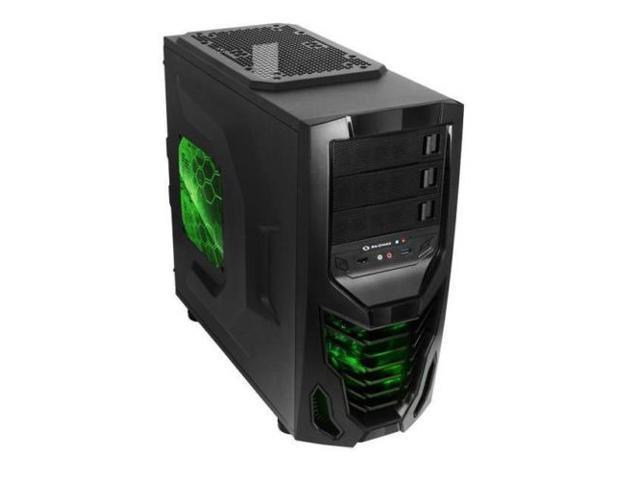 New Raidmax Cobra ATX-502WBG No Power Supply ATX Mid Tower Case (Black)-- Computer Case
