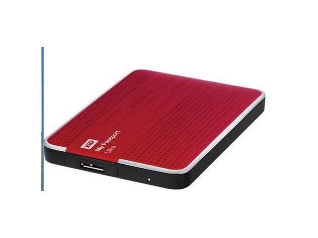 WD My Passport 2TB External Hard Drive, USB 3.0, Red, Bus Powered---Drive Portable