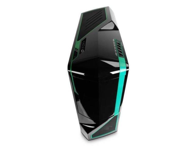 New NZXT PHANTOM No Power Supply ATX Full Tower Case (Black/Green)-- Computer Case
