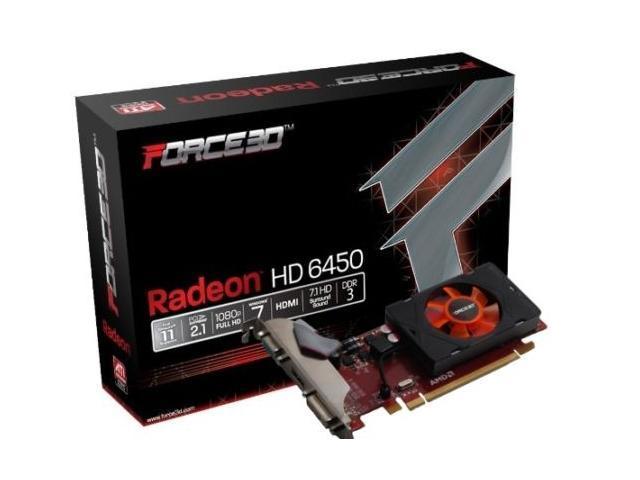 Hot New Force3D DDR3 AMD ATI Radeon 5450 PCI Express x16 Video Graphics Card HDMI VGA HD1080P 1GB