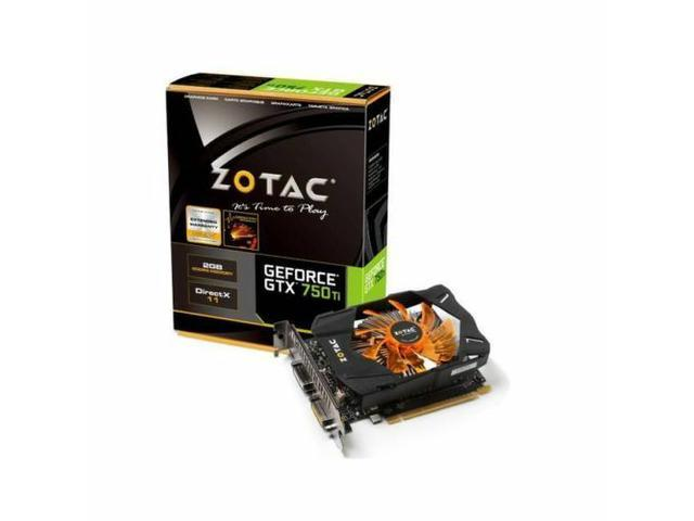 HOT New ZOTAC Video Card NVIDIA GeForce GTX 750 Ti 2DVI/Mini HDMI PCI-Express w/ Boost Premium 2GB GDDR5