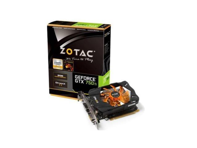 New ZOTAC NVIDIA GeForce GTX 750 Ti 2GB GDDR5 2DVI/Mini HDMI pci-e Video Card