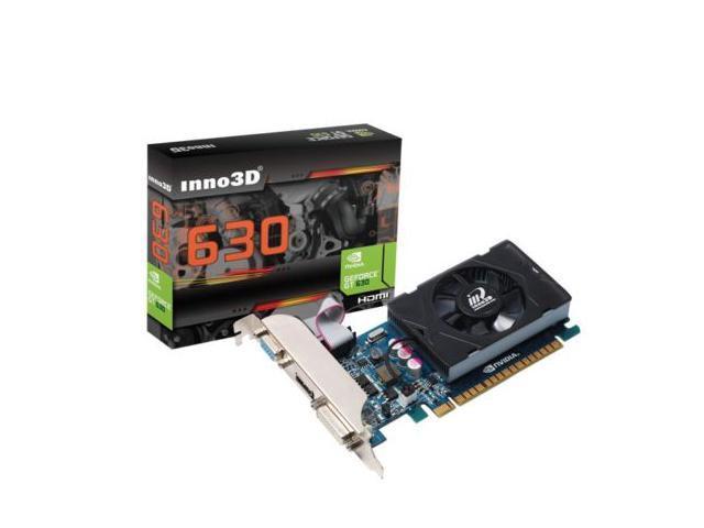 Video Graphics Card NVIDIA Geforce GT630 128 bit PCI Express HMDI DVI VGA 2GB DDR3