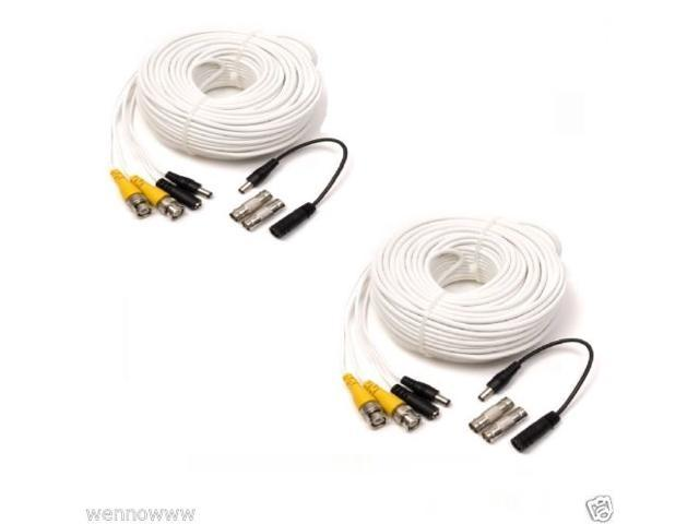 Q-See 2 x 50FT BNC Male Cables w/ 2 Female Connectors
