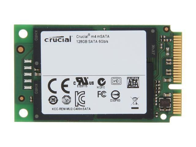 Crucial M4 128GB mSATA CT128M4SSD3MLC Internal Solid State Drive (SSD) 128G