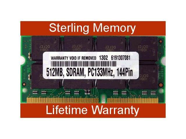 512MB MEMORY For Notebook MEMORY RAM SDRAM PC133 SODIMM 144-PIN 133MHZ