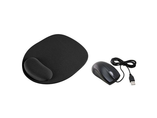 New Black Optical/Trackball Mouse Pad MousePad+usb Optical Scroll Wheel Mouse