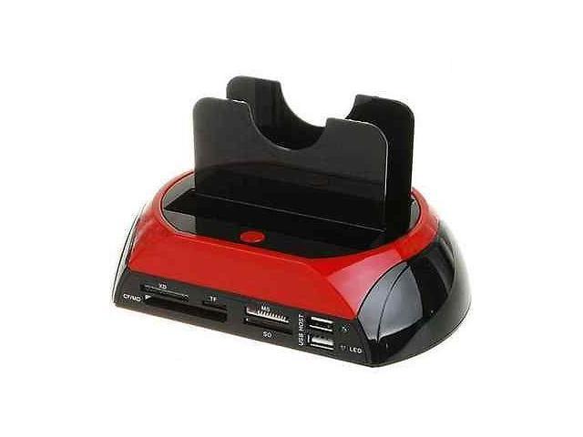 External USB To SATA IDE Hard Drive Docking Bay With Card Reader USB 2.0 Hub