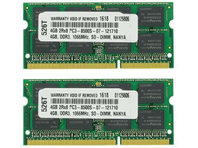 8GB KIT (2X4GB) PC3-8500 1066MHz MEMORY FOR HP PAVILION DV4