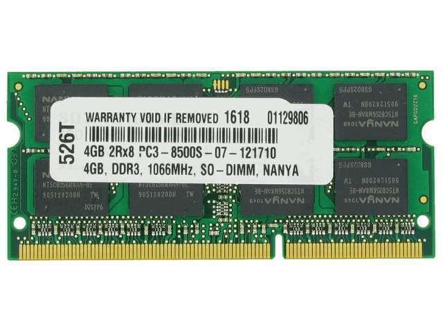 4GB MEMORY PC3-8500 1066MHz MEMORY FOR LENOVO THINKPAD T500