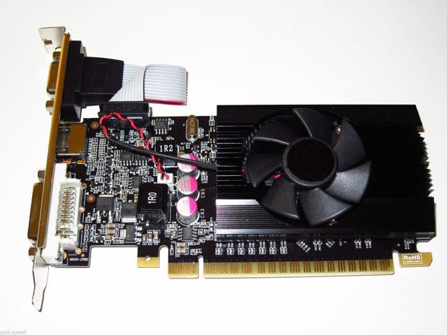nVIDIA 2GB 2048MB PCI-E x16 Dual Monitor Display View Gaming Video Graphics Card shipping from US