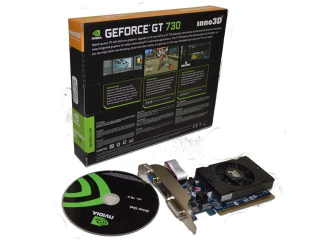 NVIDIA Geforce GT730 2GB DDR3 128 bit PCI Express Video Graphics Card HMDI DVI VGA shipping from US