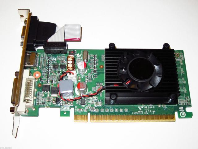 New View Video Graphics nVIDIA GeForce 8400 GS DVI+HDMI+VGA Single Slot Low Profile Video Graphics Card 512MB
