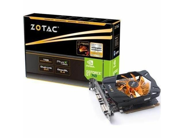 New ZOTAC NVIDIA GeForce GT 740 1GB DirectX 12 OpenGL 4.4 GDDR5 VGA, DVI Dual Link, HDMI PCI-Express Video Card