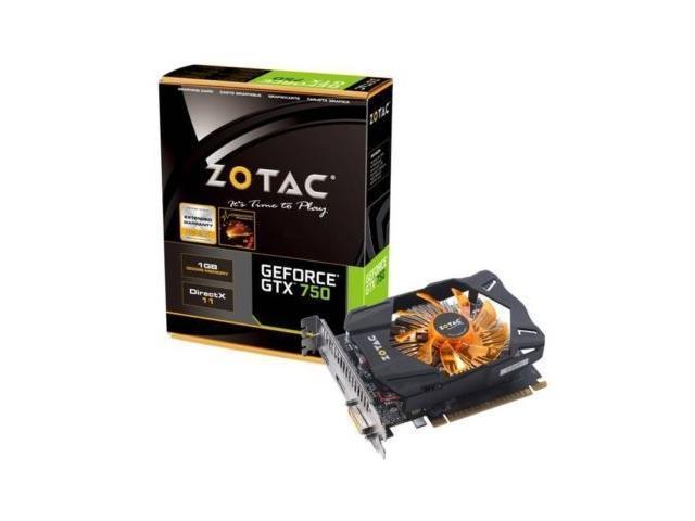ZOTAC GeForce GTX 750 1GB 128-bit DDR5 DVI/HDMI/DisplayPort/VGA Video Graphics Card