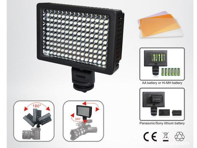 126 LED Video Light Photography Lighting Dimmable for Nikon Canon DSLR Camera Camcorder
