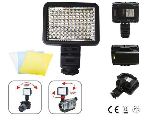 96 LED Video Light Photo Studio Light Dimmable for Nikon Canon DSLR Camera Camcorder