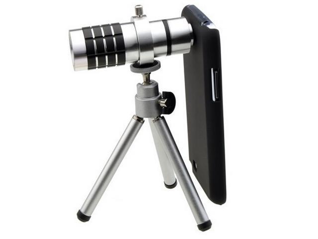 12X Zoom Telescope Phone Camera Lens with Mini Tripod for Galaxys Note 2 II