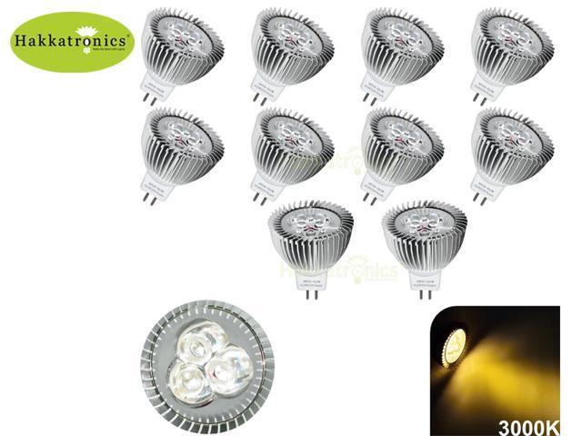 10 PIECES 6W 3X2W GU5.3 MR16 LED EPISTAR Energy Saving Spot Light Lamp Bulb DC/AC 12V Warm/Soft White 2800K No Dimmable LED Flood Reflector ...