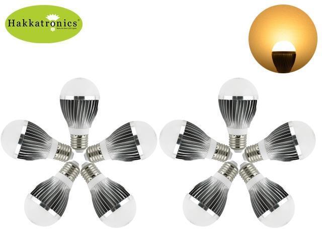 10X Hakkatronics A50 5W E27 globe LED bulb light lamp 110V Warm White 3000K /45W Incandescent Replacement /Energy Saving