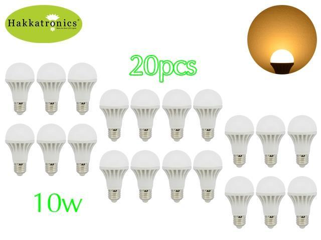 20 Pieces 10W e27 globe led bulb light lamp 110V A19/A60 Warm White 3000K /75W Halogen Bulb Replacement /Energy Saving