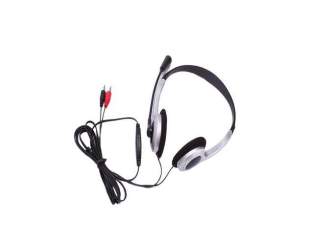 NEW SM XTY-22 3.5mm Stereo Headset with Microphone for PC Computer Silver