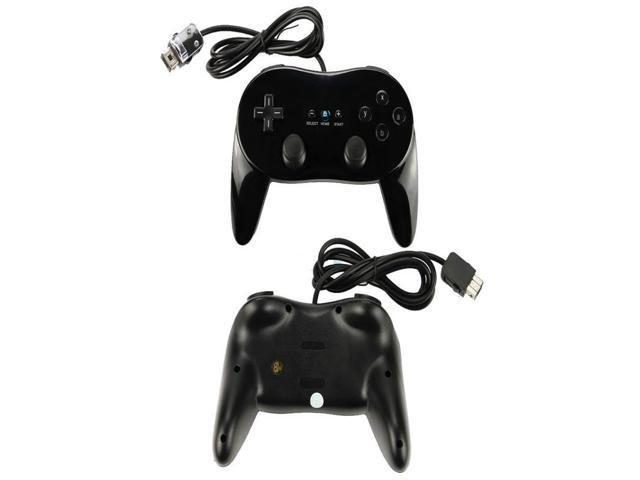 NEW 2 x Classic Controller Pro For Nintendo Wii Remote Black