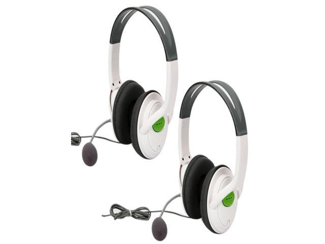 2 x Big Live Headset with Microphone MIC for Xbox 360 Controller White