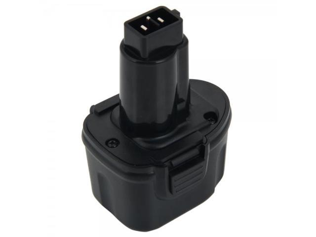 DEW-7.2 7.2V 2000mAh Rechargeable Ni-CD Battery for Dewalt DE9057 DE9085 Black