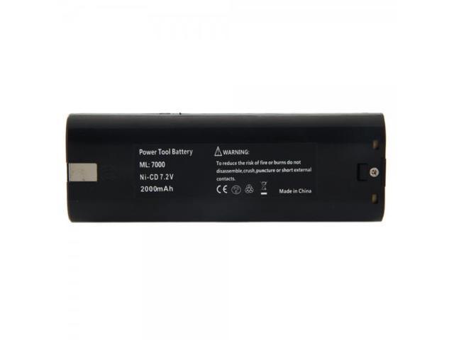 MAK-7.2 7.2V 2000mAh Rechargeable Ni-CD Battery for Makita Series Black