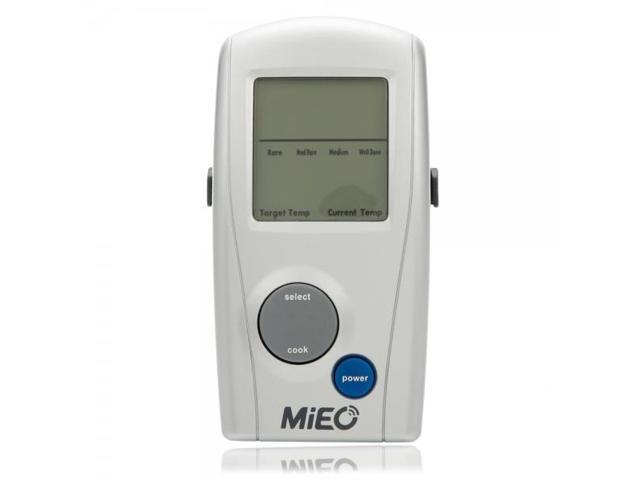 MIEO Wireless LED Digital Display BBQ Probe Analog Thermometer Silver & Gray