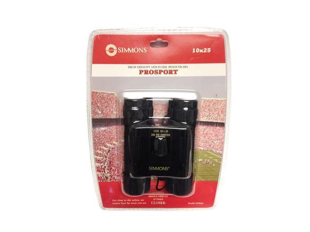 10x25 Compact Roof Binoculars - Black, Clam Pack