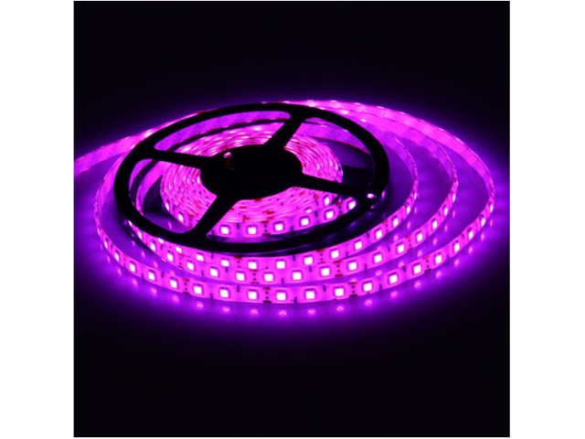 5050 SMD 16.4Ft 5Meter 150LEDs Pink Flexible Waterproof Strip Lighting With DC Power Adapter Connector