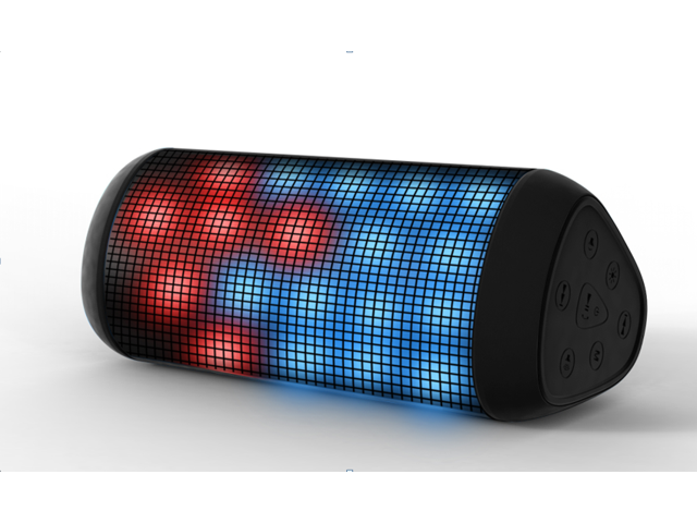 Elivebuy Pulse Wireless Bluetooth Speaker with LED lights and NFC Pairing (Black)
