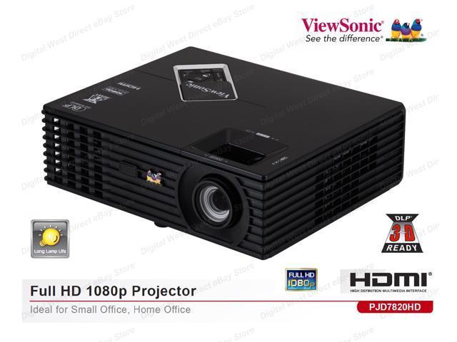 ViewSonic PJD7820HD Full HD,1080p,3000 Lumens,15000:1,3D Ready,DLP Projector