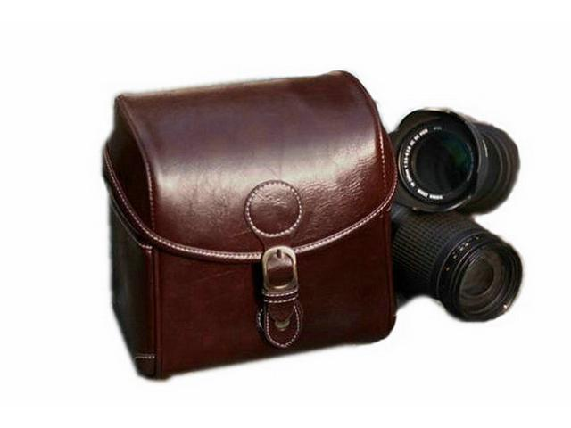 Westlinke PU Leather High Quality Professional Dslr Camera Bag Case Travel Photo Shoulder Bags for Canon/nikon/Pentax/Sony Dark Brown color