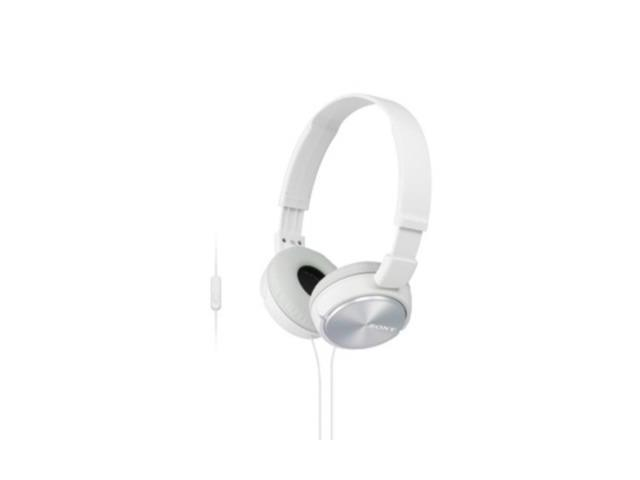 Sony SONY MDRZX310AP W ZX Series Over-Ear Headphones with Microphone (White) ...