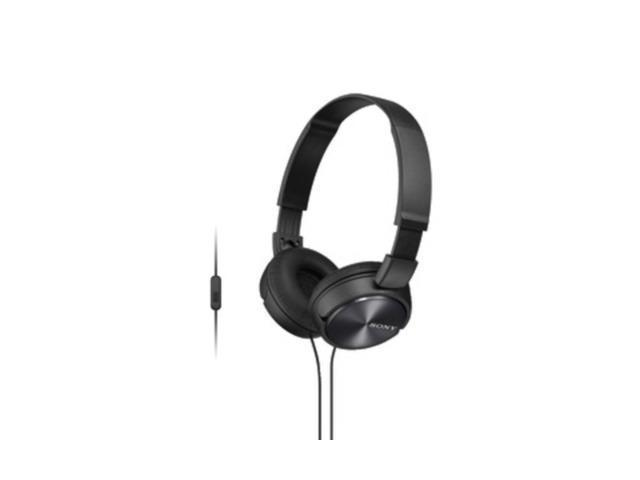 Sony SONY MDRZX310AP B ZX Series Over-Ear Headphones with Microphone (Black) ...