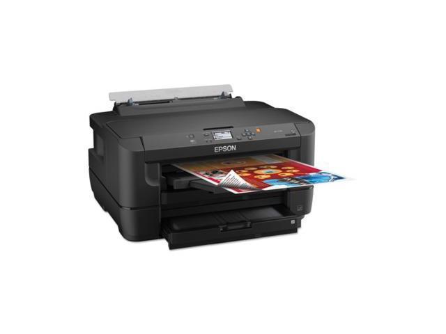 n WorkForce WF-7110 Inkjet Printer - Color - 4800 x 2400 dpi Print 18 ppm Mono Print / 10 ppm Color Print (ISO) - 500 ...