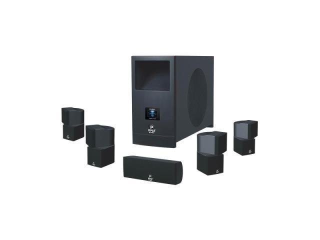 Pyle PHSA5 5.1 Speaker System - 100 W RMS - Piano Black 2KV9636