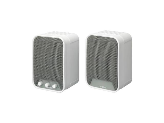 Epson ELPSP02 2.0 Speaker System - 30 W RMS - White 2KT6660