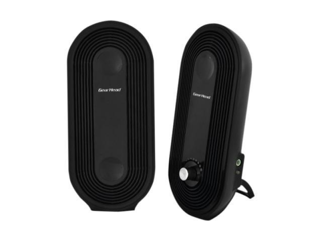 Gear Head SP2500USB 2.0 Speaker System - 3 W RMS - Black 2KV7311