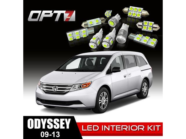 OPT7 18pc Interior LED Replacement Light Bulbs Package Set for 09-13 Honda Odyssey | White