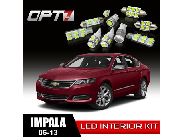 OPT7 16pc Interior LED Replacement Light Bulbs Package Set for 06-13 Chevy Impala | White