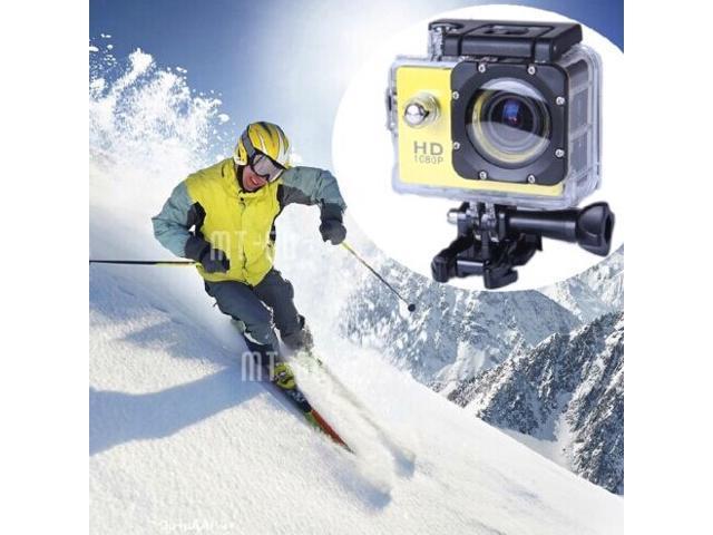 Elenxs White Full HD 1080P 12MP SJ4000 Waterproof Sports DV Action Camera+Battery