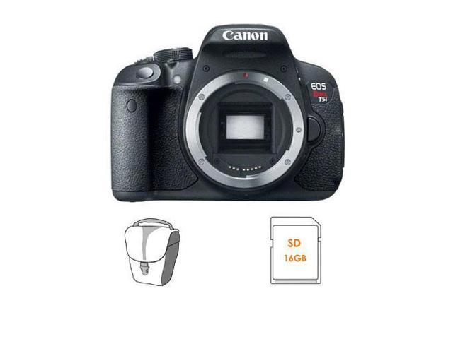 Canon EOS T5i Camera Body - Bundle w/16GB SDHC Memory Card, Camera Case
