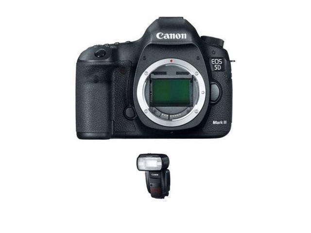 Canon EOS-5D Mark III Digital SLR Camera, with Canon Speedlite 600EX-RT,