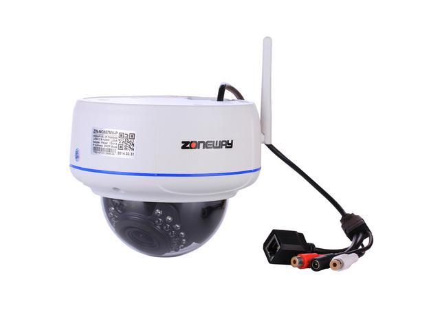 ZONEWAY NC857MW-P 1920 x 1080 CMOS 2.0 Megapixel Vandal-proof Wireless IP Dome Camera Support ONVIF and P2P