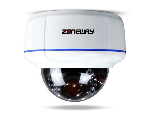 ZONEWAY NC1010M Professional 5.0MP HD Vari-focal IR Vandal-proof IP Dome Camera(2560x1920 Resolution, 10fps, IP66)