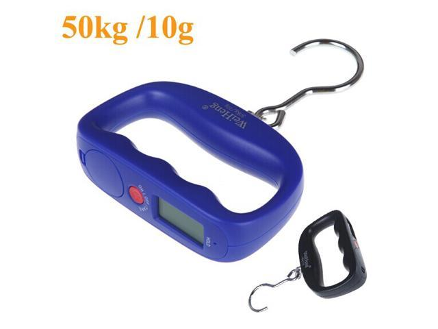 50kg /10g Digital Electronic Luggage Weight Hook Hanging Scale LCD Display kg / lb / oz / g Blue Kitchen Scales
